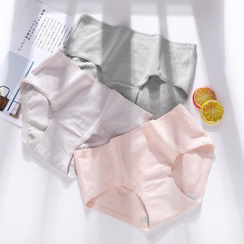 Mid Waist  Women's Cotton Underwear Bulk Women Panties Sexy Ladies Briefs Hipster with 3 sizes