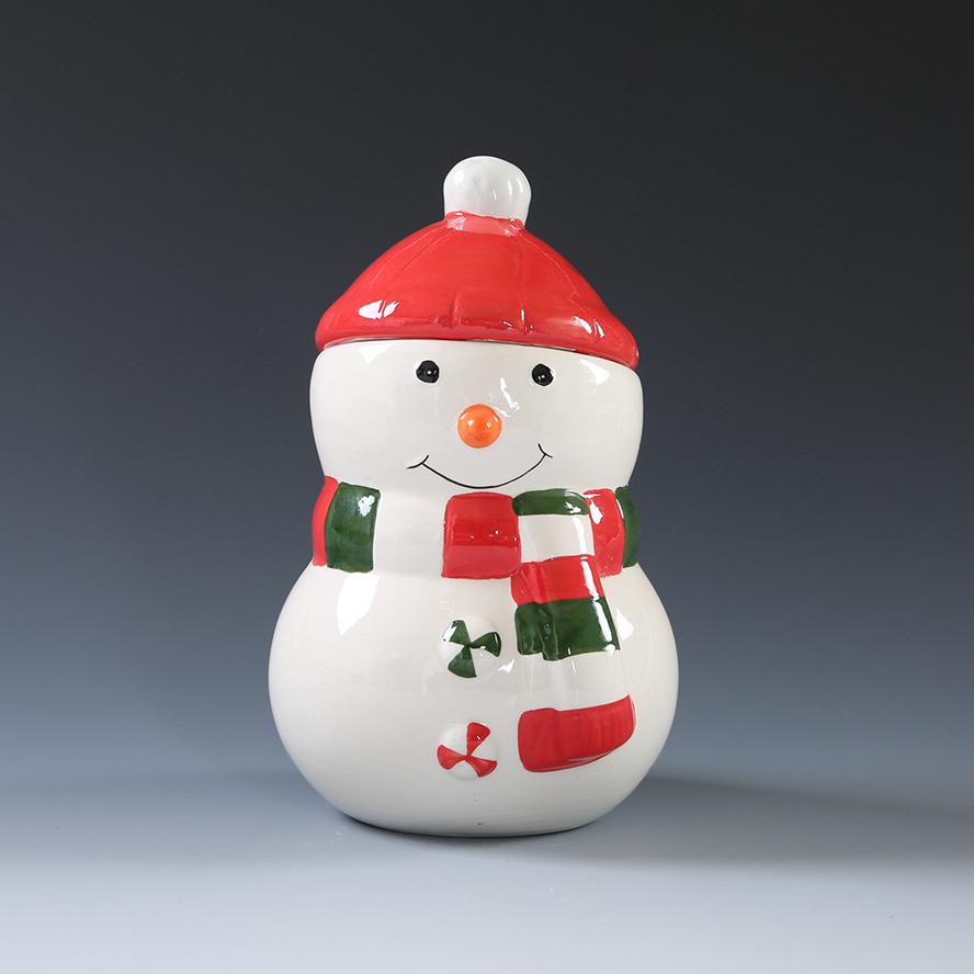 Wholesale Christmas Ceramic Snowman Shaped Cookie Jar Buy Christmas Jar Christmas Cookie Jar Snowman Jar Product On Alibaba Com