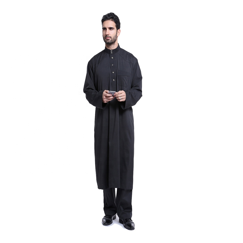 2016 New Model Classic Men's Muslim Wear Designs Arabic Thobe for Men