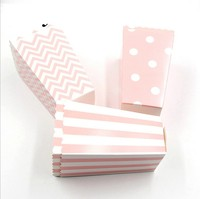 custom size Classic Red and White Striped popcorn box