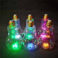 LED flashing PET light Bulb plastic drinking cup