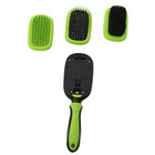 best dog rubber pet cleaning grooming hair removal pin brush set for shedding