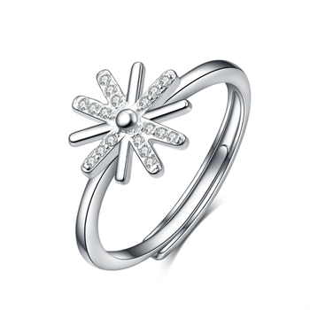 Original designs 925 Sterling Silver Dazzling Flower Ring Clear Cz Wedding Jewelry Wholesale Factory Price Rings