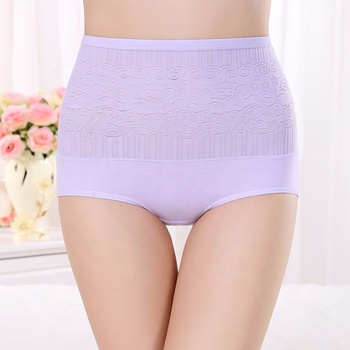 Hot Sale Pure Cotton Jacquard Weave briefs women Panties
