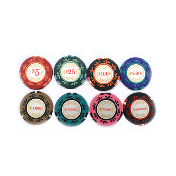 Casino royal stickers 14g Three Tone Clay Poker Chip