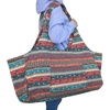 Patterned Canvas Yoga Tote Mat Carry Bag With Large Pockets