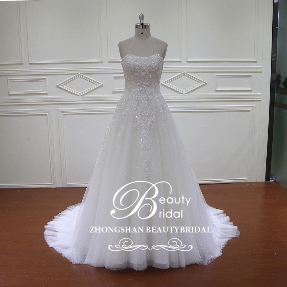 HD005 splendido ricamo a mano applique abito da sposa ball gown wedding dress