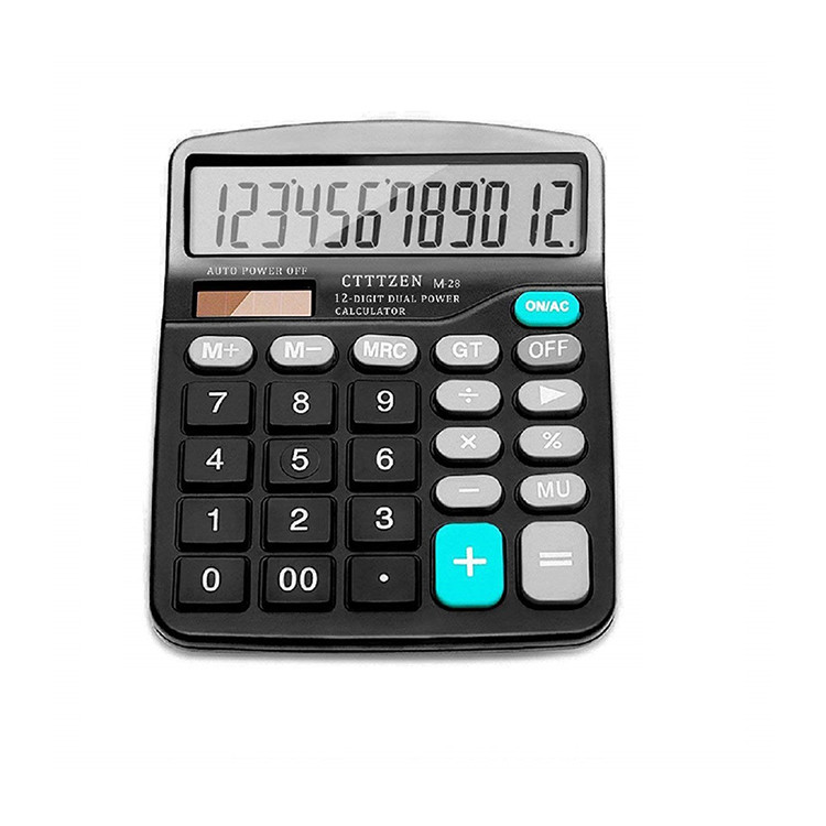 Professionele kleine led display 12 digit dual power calculator