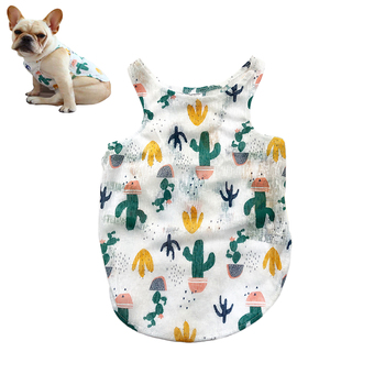 Hawaiian Pet Dog Polo T Shirts Cute Sleeveless Puppy dogs Pets Cool Summer Custom Vest Dog Clothes Pet Striped T-shirt