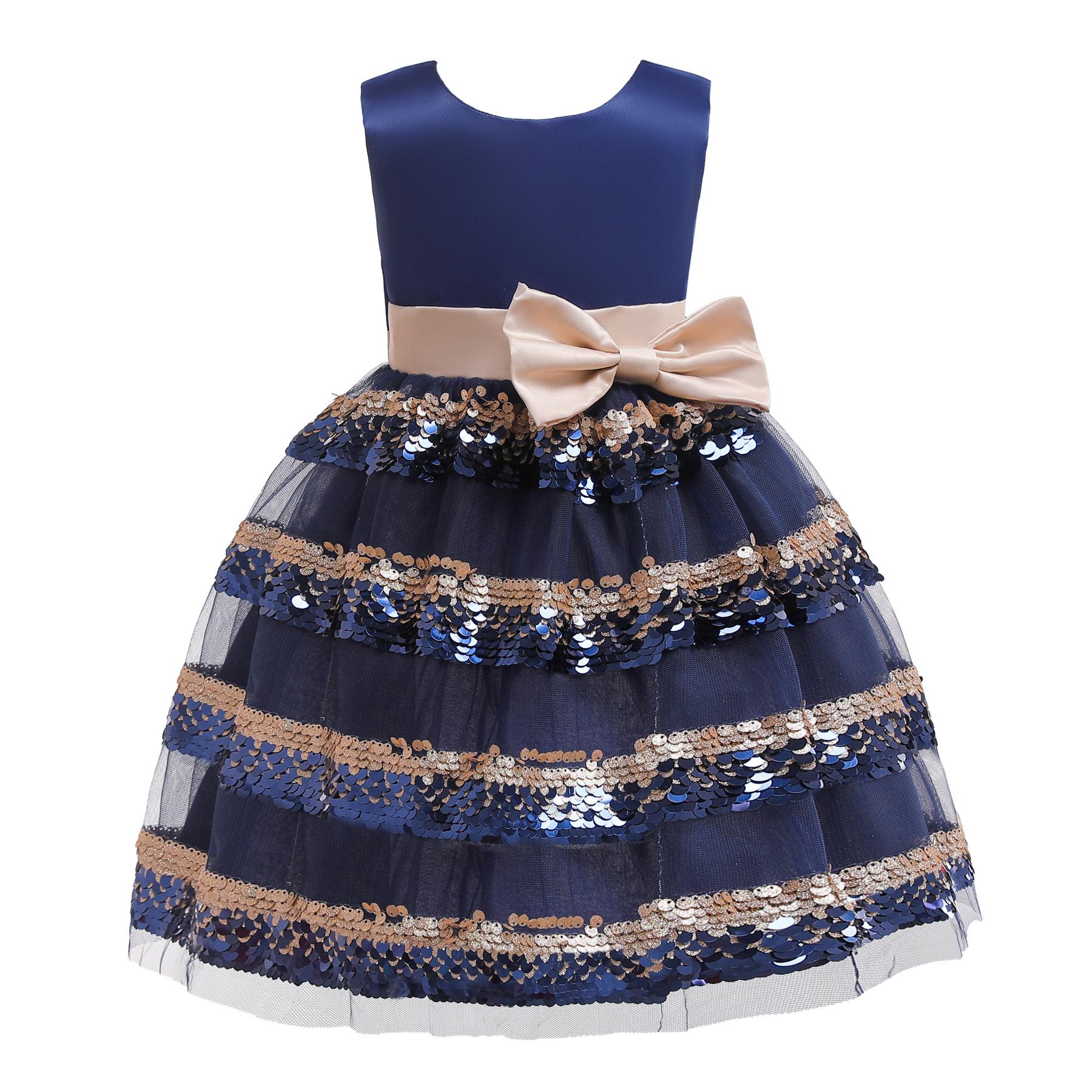 8eccd4417 Los niños vestido de fiesta elegante tul lentejuelas boda niños vestidos  para niñas