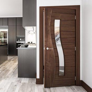 Readymade Interior Half Temporary Bedroom Wooden Doors ...