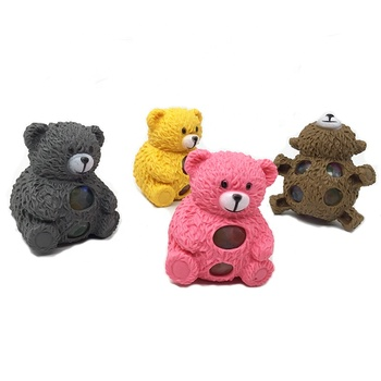 2019 New Products TPR Bear Animal Rubber Extrusion Mucus Ball Toys Bear Squeezes Stress Relief Toys Release Pressure Wholesale