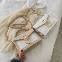 2019 Chain Metal Ring Bag Contrast Color Summer New Korean Ladies Handbag Fashion Shoulder Bag Messenger Bag