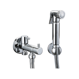 Brass Sprayer kit /bath shower faucet with holder and SS stainless steel flexible chromed hose