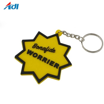 High quality personalized custom shape rubber pvc keychains