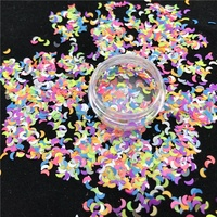 Solvent Resistant Pearlescent Matte Colorful Neon Moon Glitter for Halloween Tumbler Craft Decoration