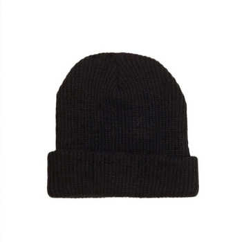Custom Design Wool Ribbed Knitted Hat Beanie