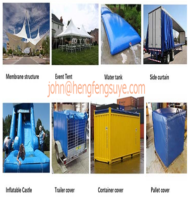High quality 680GSM pvc coated tarpaulin for truck side curtain fabric