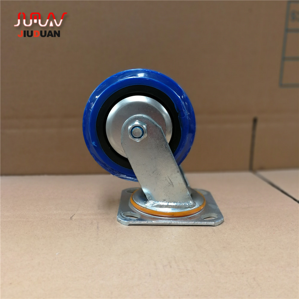 China Fabrik TPR Stille Rubber industrielle swivel caster räder