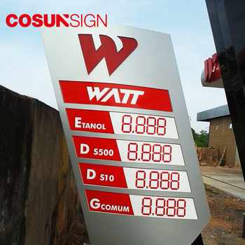 outdoor petrol service station waterproof signage directional road pylon sign
