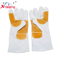 Professional Safety Equipment Welding Leather Glove Cow Split Leather Softtextile Working Gloves