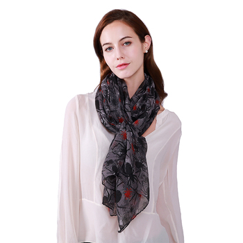 New choice fashion filk scarf /cheap high quality wholesale ladies girls shimmer scarf india