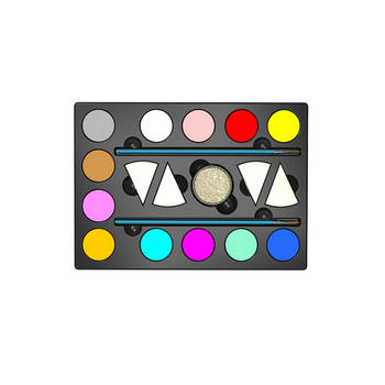 Face Painting Kits 12 Colors Palette Face Paint Kits for Kids Non Toxic