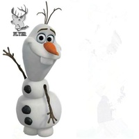 Life style Say hello fiberglass cartoon character olaf resin statue