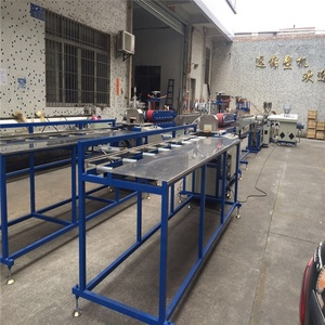 polycarbonate LED light tubular profile extruding factory line with high quality T5 T8 or T12 single or double colour output