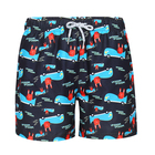 Fashion style low drawstring sublimation swim short board men beach shorts
