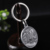 Free design zinc alloy die casting ancient silver 3D character avatar coin keychain with your own logo