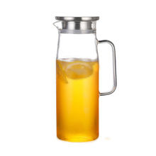 <span class=keywords><strong>China</strong></span> Gemaakt Hoge Kwaliteit Decoratieve Jug Karaf Hot Water Glas Pitcher