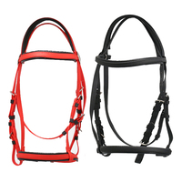 Soft Padded Adjustable Single Noseband With Reins Horse Bridle