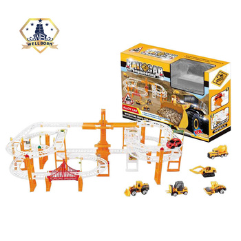 Hot Items plastic toy alloy electric rail train set with sound light