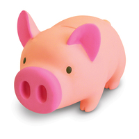 ECO-PVC ABS material promotional pig shape pink pig piggy bank