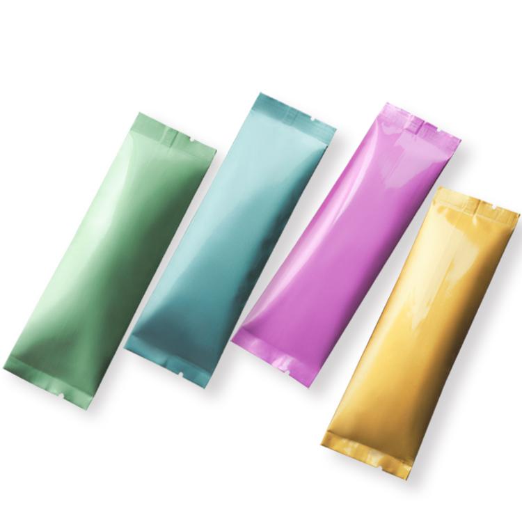 Emballage automatique en aluminium imprimé personnalisé VMPET de qualité alimentaire en plastique bâton pack film rouleau pour café, sucre, lait en poudre emballage