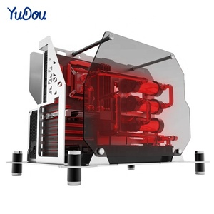 Water Cooled Internet Cafes Bar E-sport Aluminum PC Gaming Computer Case