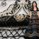 New look custom made luxury handwork black sequin heavy beaded lace net fabric