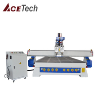 2019 Jinan factory Hot sale ATC 1325 1530 2030 woodworking cabinet wood cnc router machine+Vacuum Table