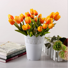 Kunstmatige blauwe <span class=keywords><strong>Bloem</strong></span> Boeket Real Touch pu <span class=keywords><strong>Tulp</strong></span> Bloemen voor Party Bruiloft Home Decoratie <span class=keywords><strong>Bloem</strong></span>
