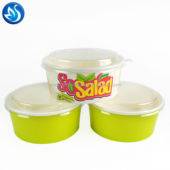 Disposable Paper Bowl for Fruit &Salad with Personalized Pattern