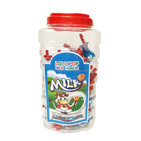 Wholesale small milk flavour whistle lollipop candy