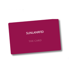 2019 Famosa branding SUNLANRFID IC contactless Chip trasparente in bianco smart Card RFID