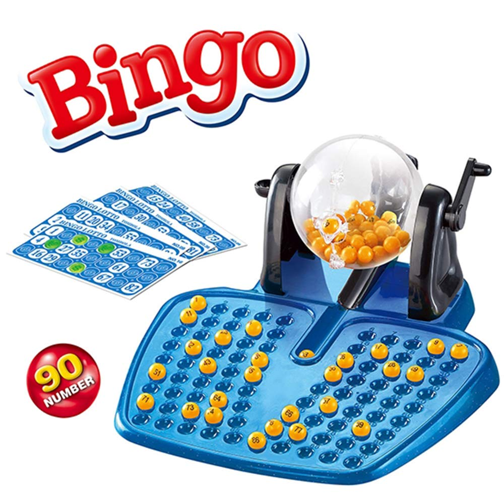 Bingo Lotto Spiel Set-90 Bälle, 48 Bingo Karten, und 80 Chips (Commonwealth Version)
