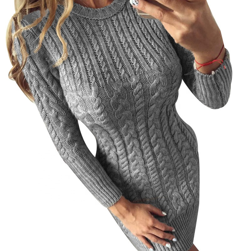 оптовая продажа вязаные платья теплые купить лучшие вязаные платья