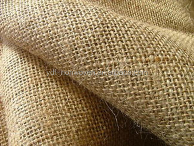 The most popular Eco-Friendly Nature color Knitted jute 100% jute burlap sack fabric