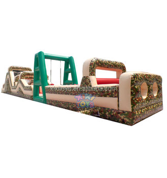 Large Military Color Boot Camp Inflatable Obstacle Course / Camouflage  Inflatable Obstacle Course For Team Building - Buy Adult Inflatable  Obstacle
