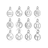 12 pcs one set chinese zodiac sign charms metal tags for bracets necklaces custom logo handbag tags charms