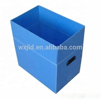 custom polypropylene pp corrugated plastic package box with handle