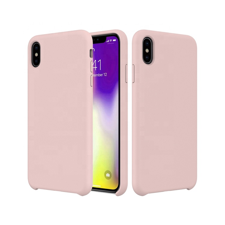 2019 Microfiber Soft Touch Cell Phone Silicone Cover Original Liquid Silicone <strong>Case</strong> For Iphone XS Max XR 8 7 6s 6 plus
